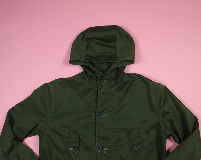 Vintage Army Green Parka Rain Jacket