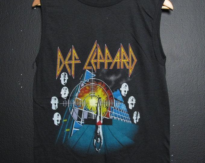 Def Leppard Rock Brigade 1983 Sleeveless vintage Tshirt