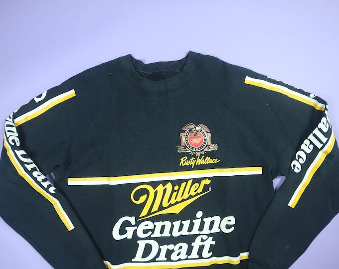 Miller Genuine Draft 1990's Vintage Raglan Sweatshirt