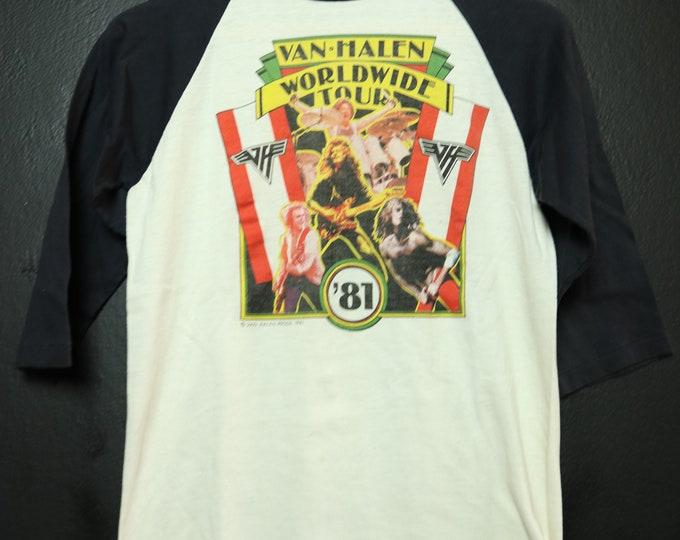 Van Halen World Wide Tour 1981 vintage Tshirt