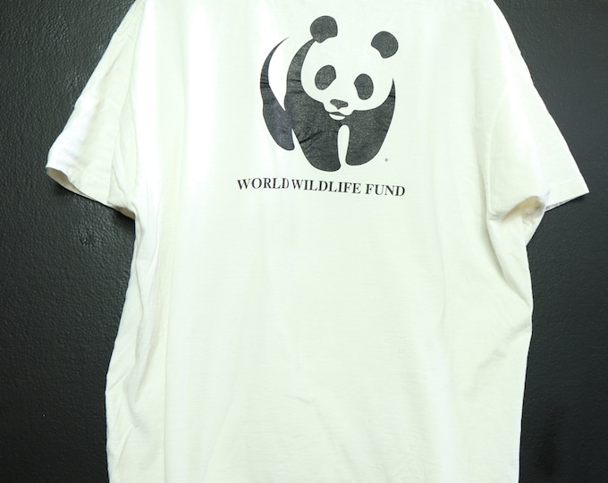 WWF World Widlife Fund Saving Life on Earth 1990's Vintage Tshirt