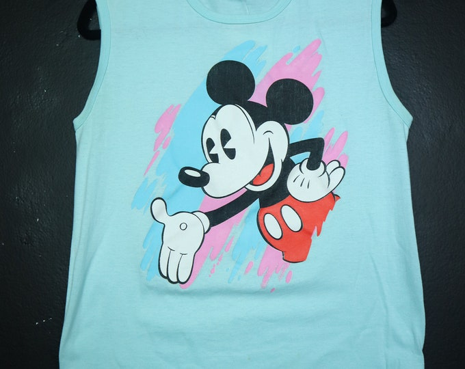 Mickey Mouse Disney 1990's Vintage Tank Top