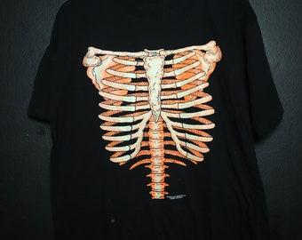 2a23168458d6 Halloween Skeleton Glow in the Dark 19901 vintage Tshirt
