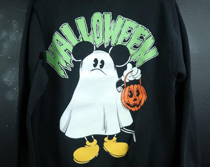 Mickey Ghost Halloween 1990's vintage Sweatshirt