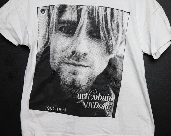 Kurt Cobain Not Dead! 1967-1994 vintage Tshirt