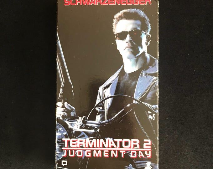 TERMINATOR 2 Judgement Day T2 1990's Vintage Movie VHS