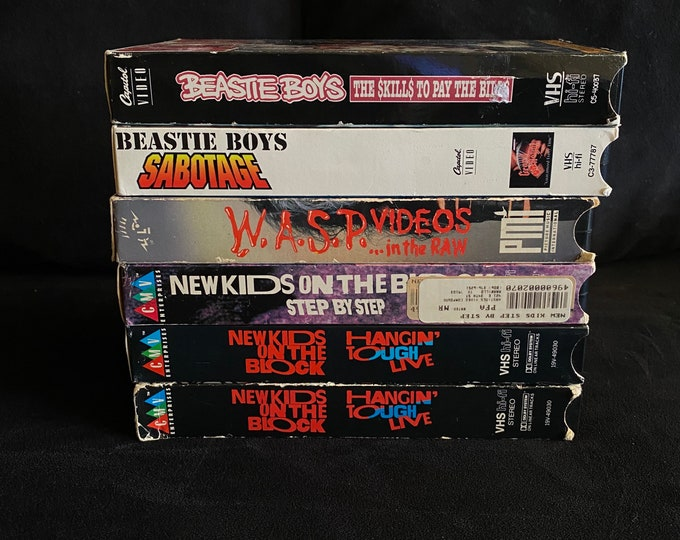 Choose One Or More! Music Videos Live Bands 1980's 1990's Vintage VHS