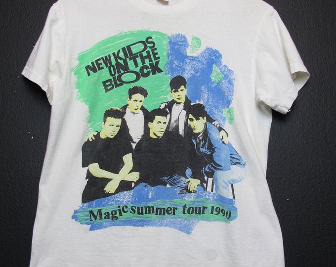 New Kids On The Block Magic Summer Tour 1990 vintage Tshirt