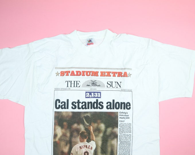 Cal Stands Alone Baltimore Orioles MLB 1995 Vintage Tshirt