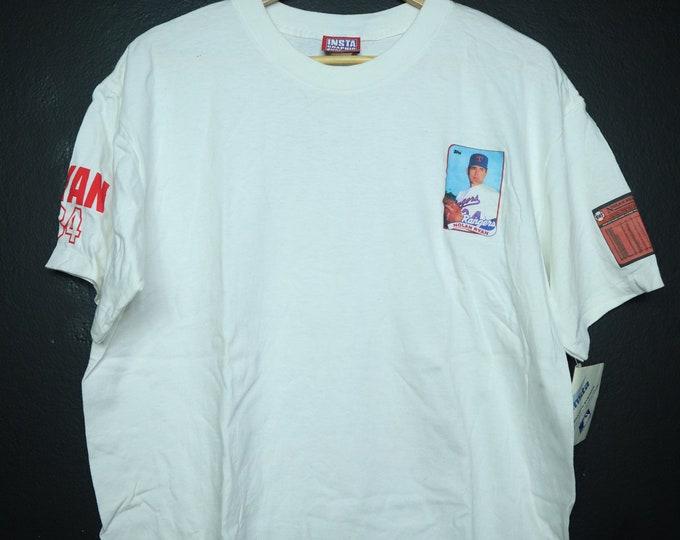 Nolan Ryan Texas Rangers MLB 1990 Vintage Tshirt