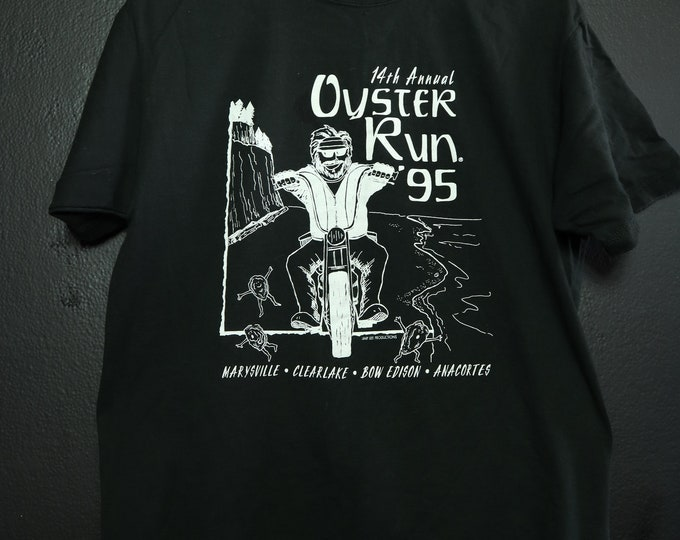 Motorcycle Oyster Run 1995 vintage tshirt