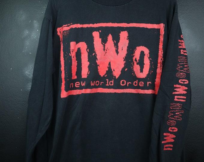 NWO red logo WWE WWF wrestling Vintage Long Sleeve Tshirt
