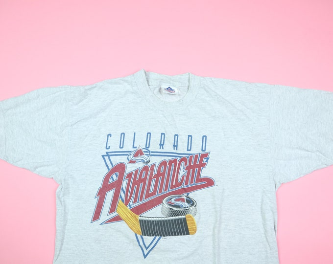 Colorado Avalanche Hockey Stick NHL 1990s vintage Tshirt