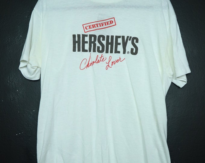 Certified HERSHEY'S Chocolate Lover novelty vintage tshirt