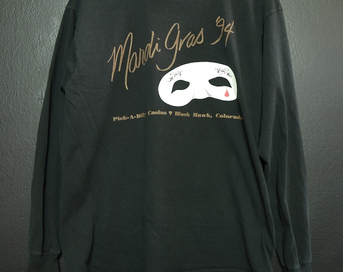 MARDI GRAS mask Colorado 90s Vintage Tshirt