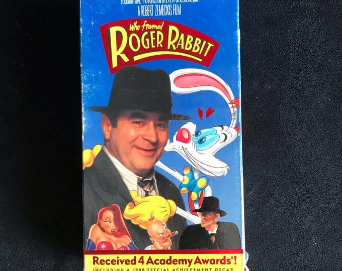 Who Framed Roger Rabbit 1980's Vintage Disney Movie VHS