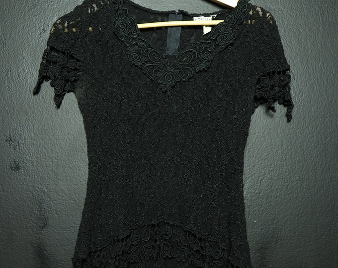 Black Lace Vintage gothic fitted shirt