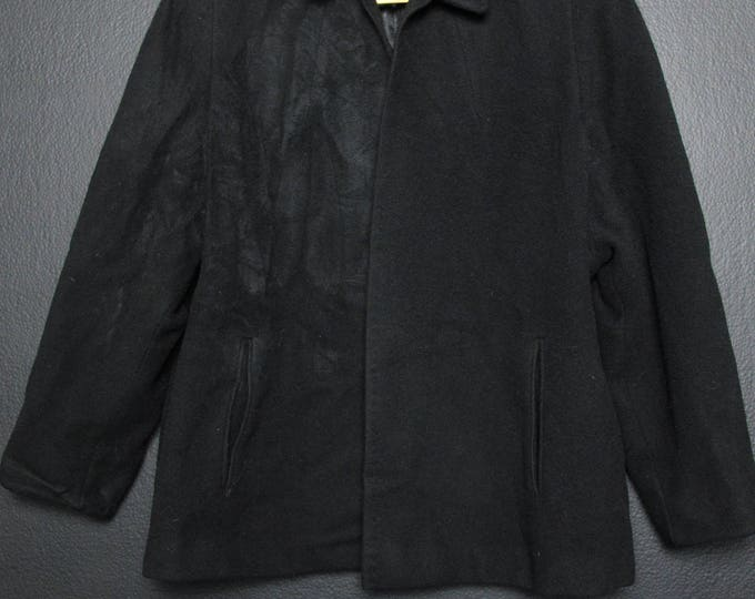 Short Vintage Black Jacket Made in USA