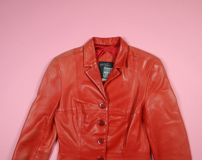 North Beach Leather - Michael Hoban 1980's Vintage Red Blazer Jacket