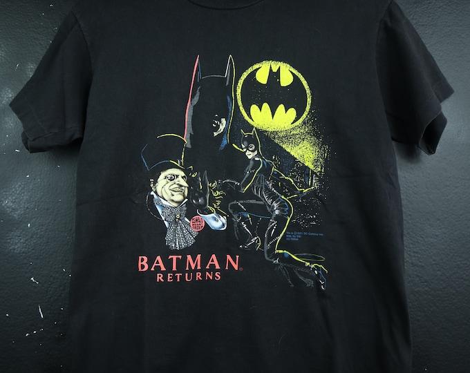 Catwoman Penguin Batman Returns DC 1990'S vintage Tshirt