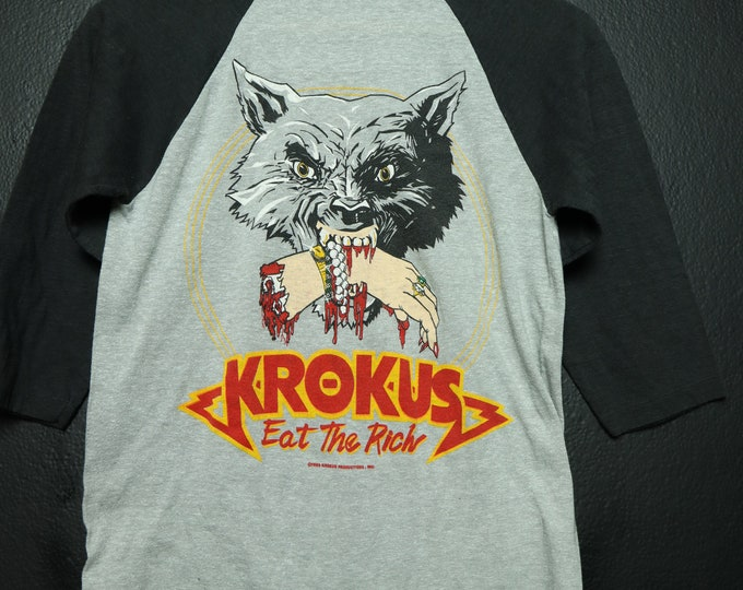 Krokus Eat The Rich 1983 Vintage Tshirt