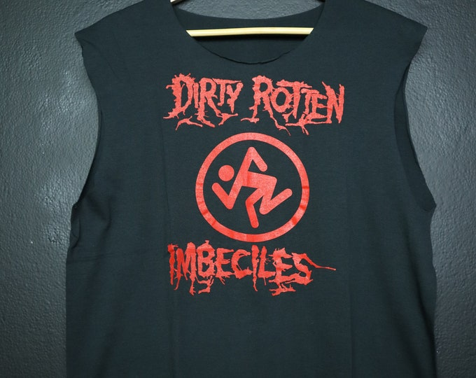 D.R.I Dirty Rotten Imbeciles Violent 1980's Vintage Sleeveless Shirt