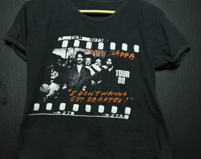 Frank Zappa I Don't Wanna Get Drafted 1980 Vintage Tshirt