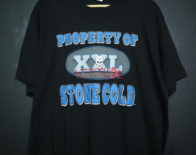 Property of Stone Cold Steve Austin XXL Attitude WWE WWF Wrestling 1990's Vintage Tshirt