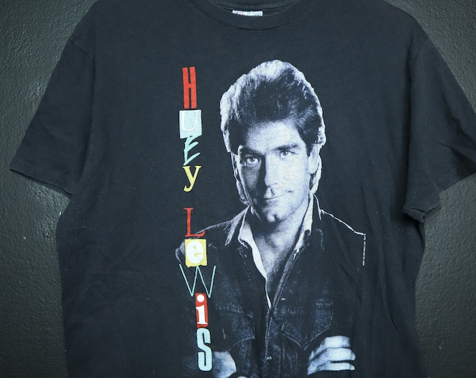 Huey Lewis and the News 1986 vintage Tshirt