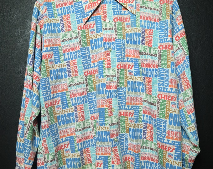 Football NFL 1970's Vintage Button Up Shirt