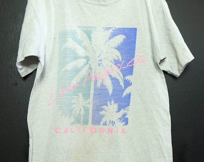 Los Angeles California palm tree 1990's vintage Tshirt