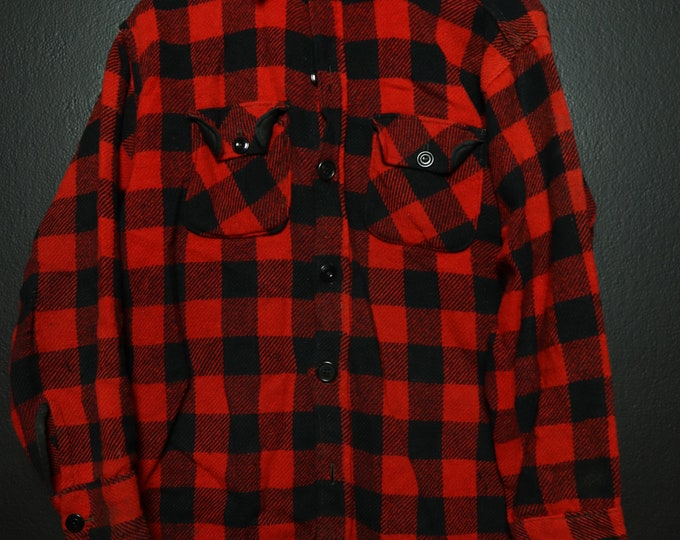 Black & Red Yorke Wool Vintage heavy weight flannel shirt