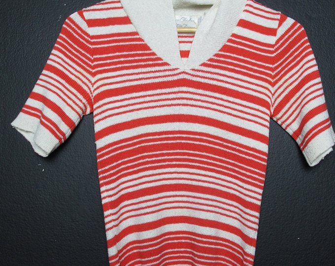 SAKS vintage striped sweater