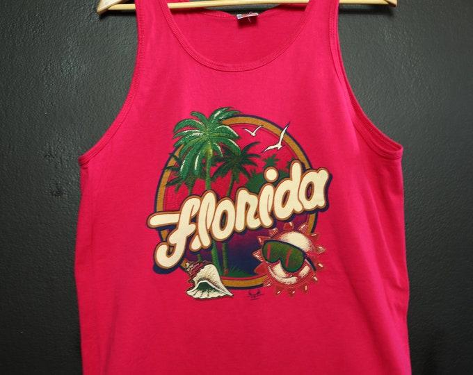FLORIDA 1990's vintage vacation tank top Tshirt
