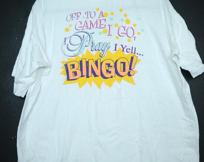Off to a game I go BINGO Vintage Tshirt