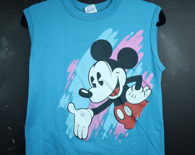 Mickey Mouse Disney 1990's Vintage Sleeveless Tshirt
