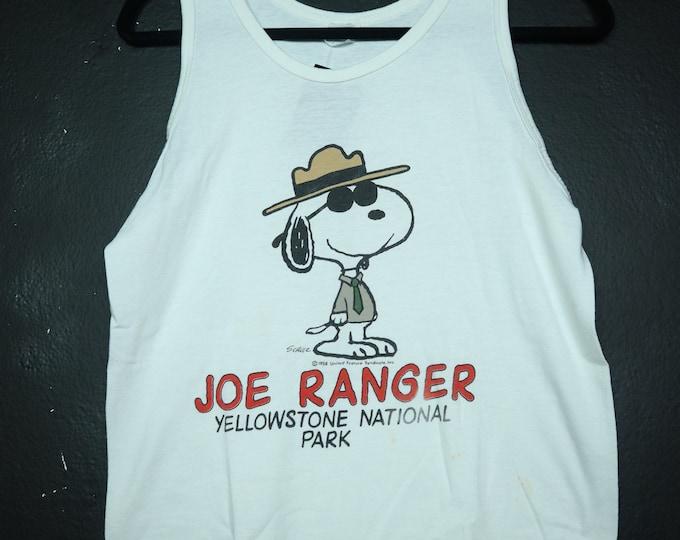 Joe Ranger Snoopy Yellowstone 1990's Vintage Tank Top