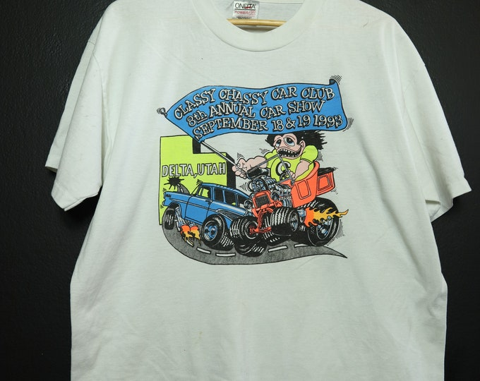 Classy Chassy Hot Rod Car Show 1993 vintage Tshirt