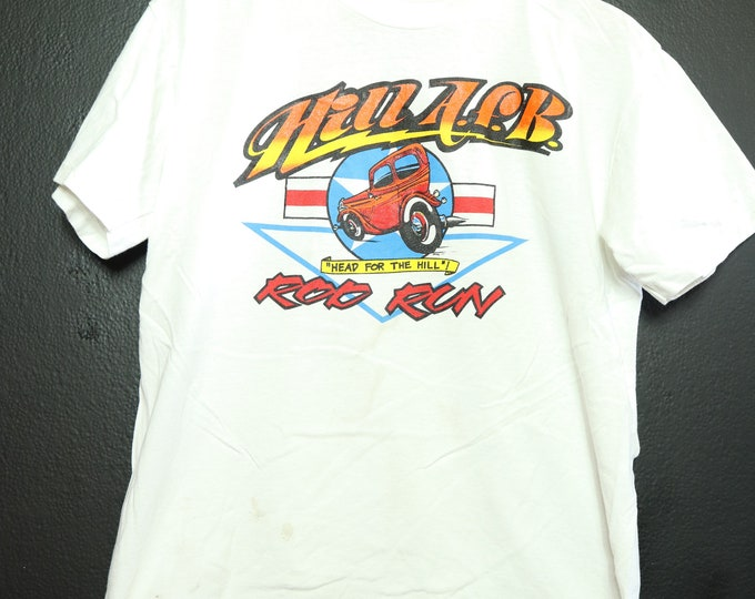 Hot Rod Head for the Hills 1990's vintage Tshirt