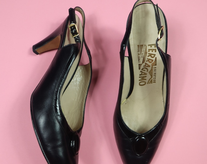 Ferragamo Made in Italy Vintage Heels