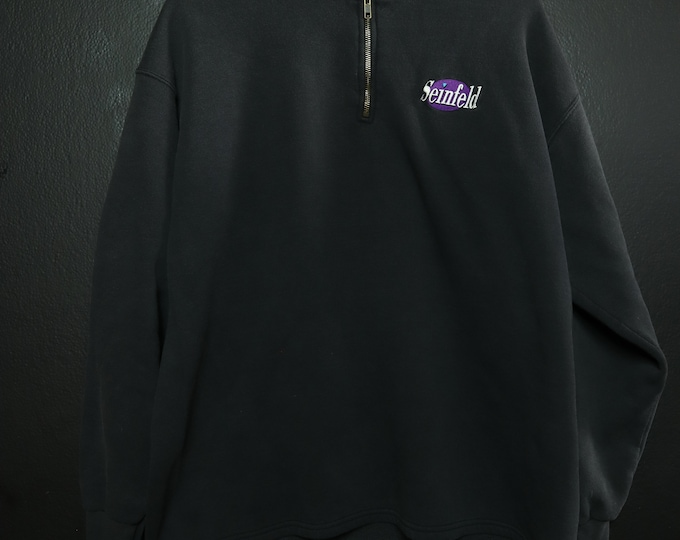 Seinfeld Logo 1990's Vintage Zip Up Sweatshirt