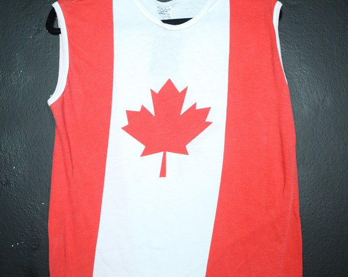 Canada Canadian Flag 1980's vintage Tank Top