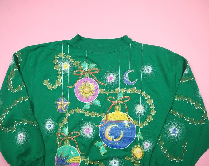 Novelty Ugly Christmas Sweater 1990's Vintage Sweatshirt