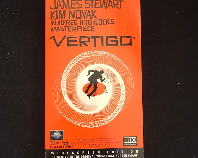 Alfred Hitchcock's Vertigo Vintage Movie VHS