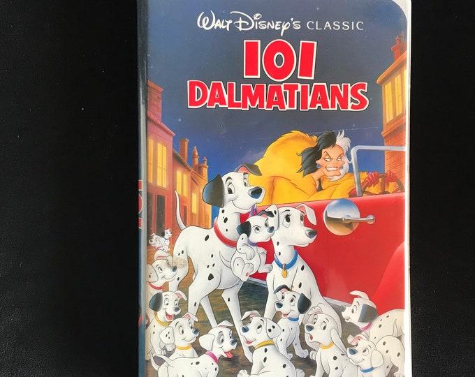 101 DALMATIANS Disney 1990's Vintage Movie VHS