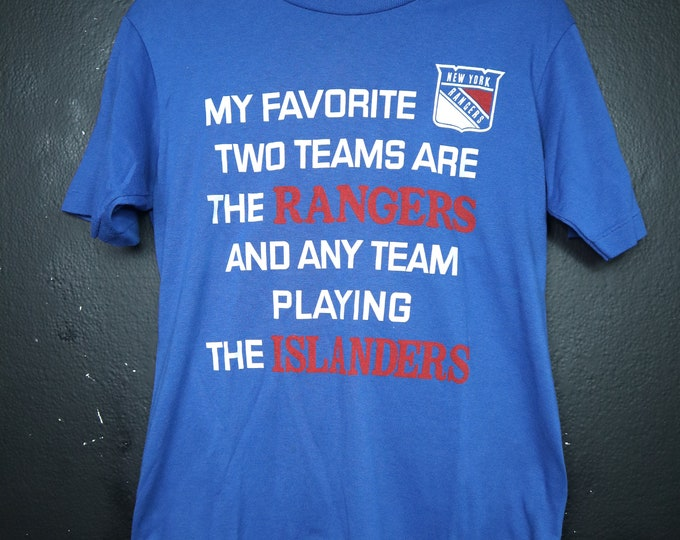 Favorite Team New York Rangers NHL 1980's vintage Tshirt