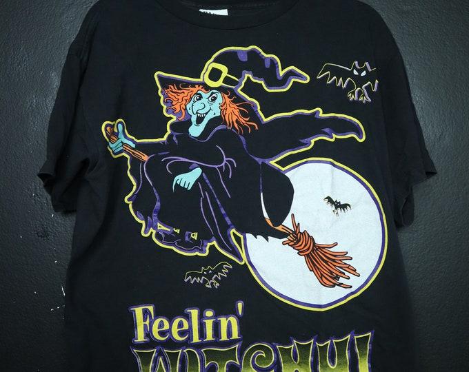 Feelin' Witchy 1990s vintage Halloween Tshirt