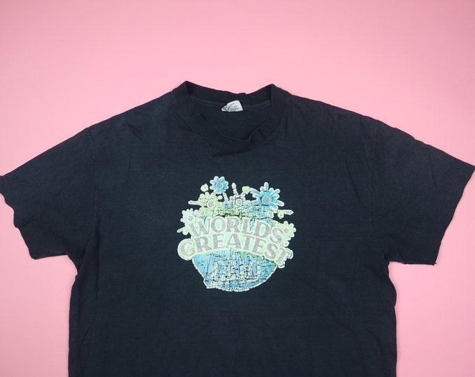 Iron-On Worlds Greatest Dad 1970's Vintage Tshirt