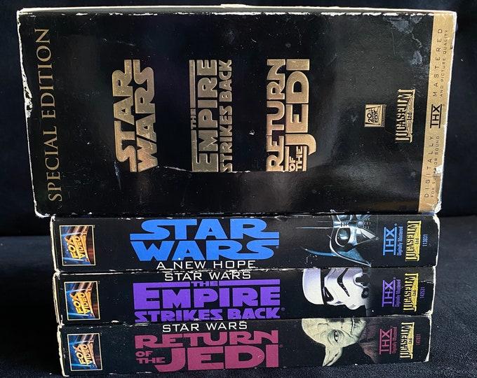Choose One Or More! Star Wars Boxset 1990's Vintage Movie VHS