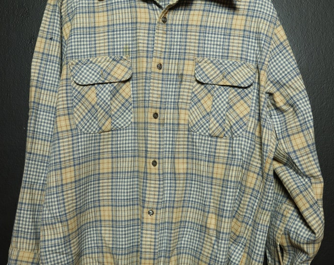 Made in USA Pendleton Plaid Vintage Button Up Shirt